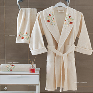 Embroidery Bathrobes Terry Velvet Yarn Dyed Dobby Jacquard textile Product