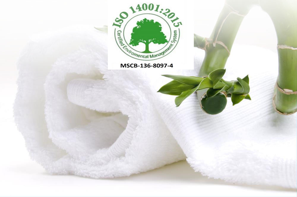 ISO 14001 STANDARDS TOWELS BATHROBES BATHMATS PRODUCING MANUFACTURING EXPORTING